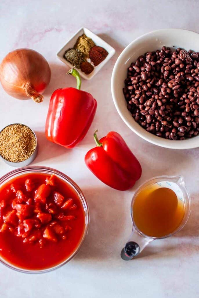 ingredients for slow cooker black bean chili
