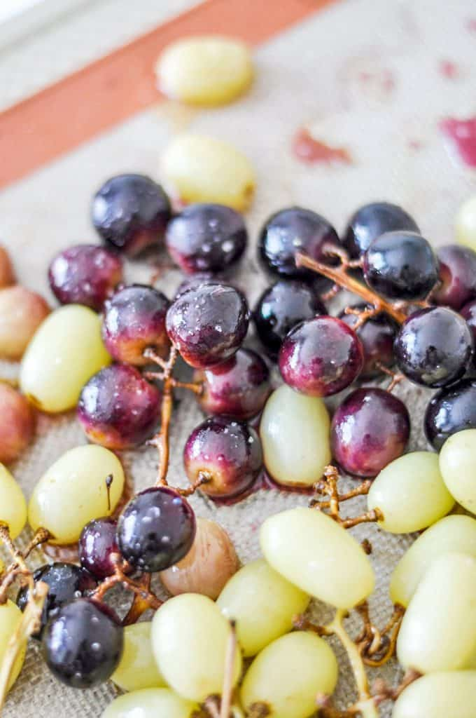 roasted grapes on a silpat