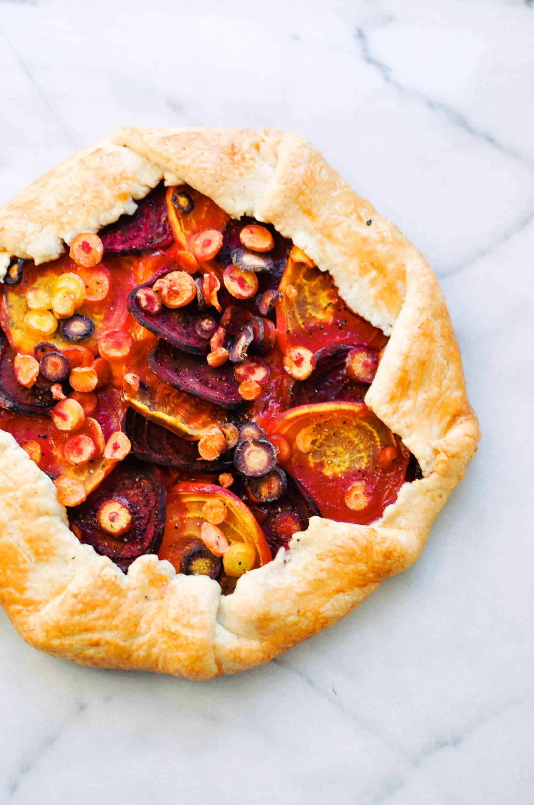 beet and carrot galette