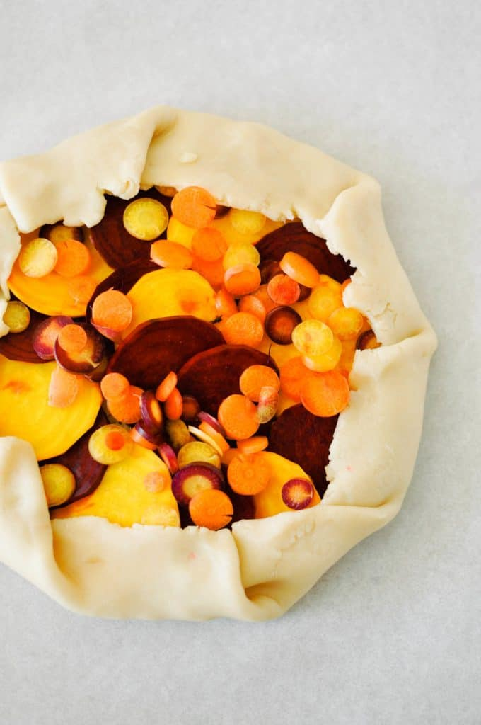savory galette recipe with beets and carrots