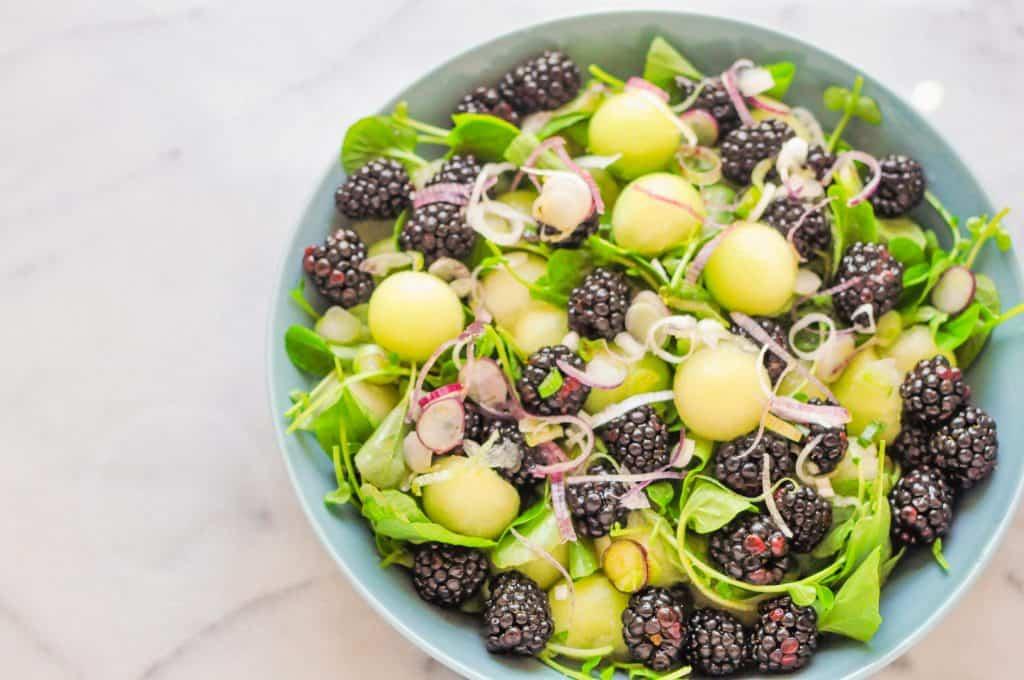 melon and blackberry salad