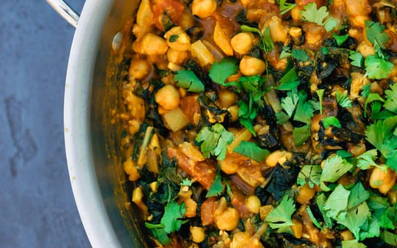 chickpea stew in a pot