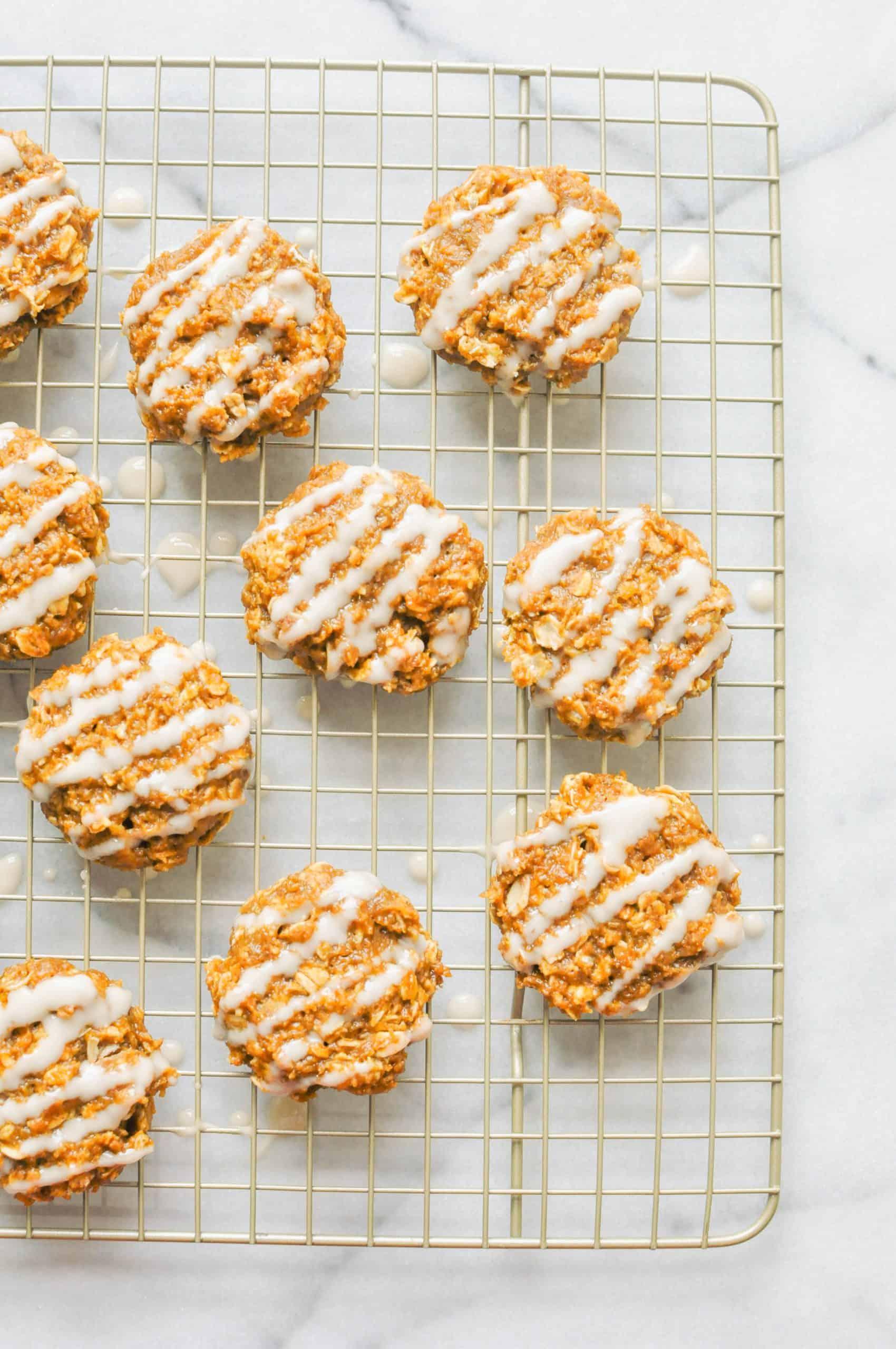 pumpkin cookies with glaze