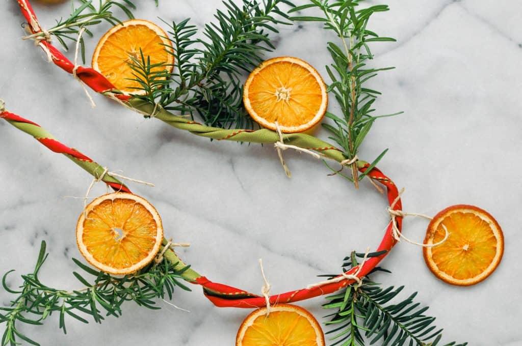 citrus rosemary garland