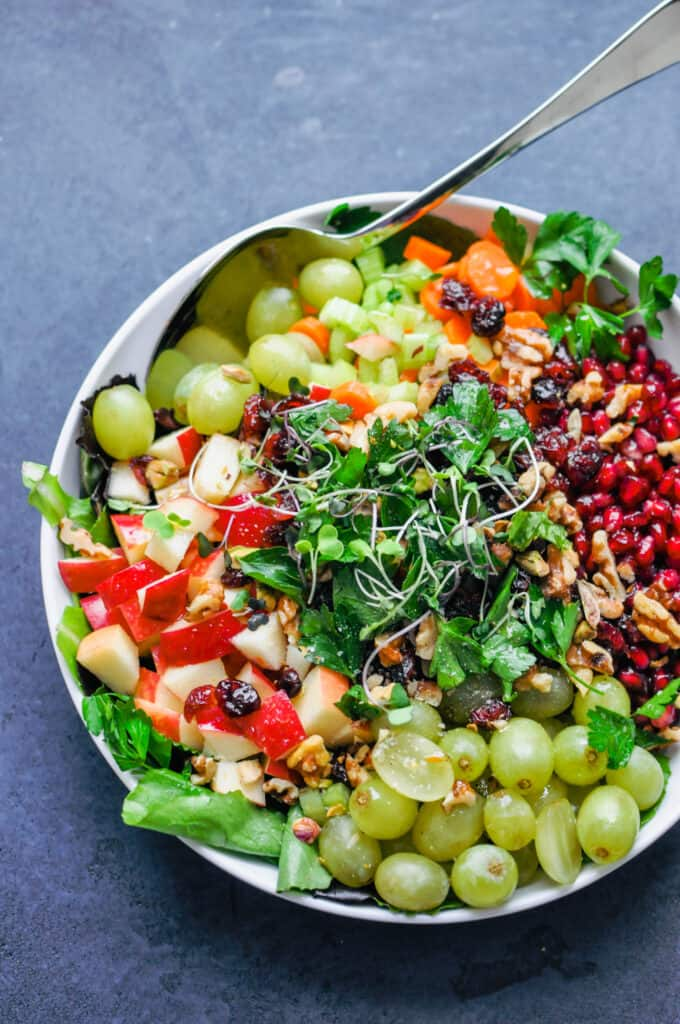 detox crunch salad in a large serving bowl