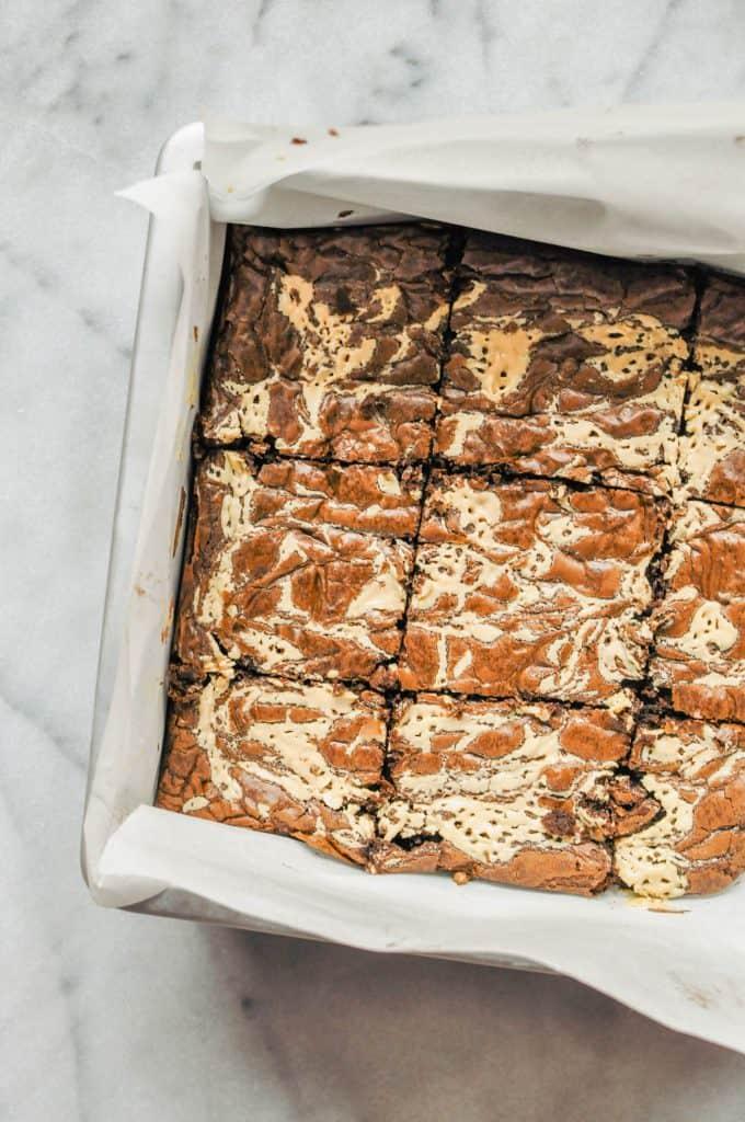 brownies in a pan