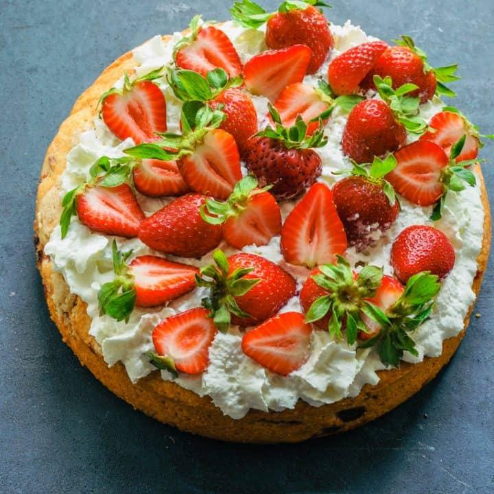 Strawberry Tahini Shortcake