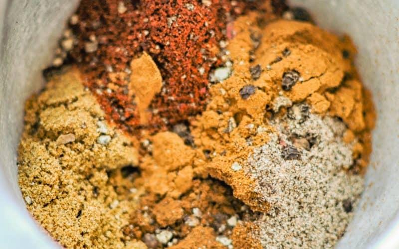 baharat spice closeup