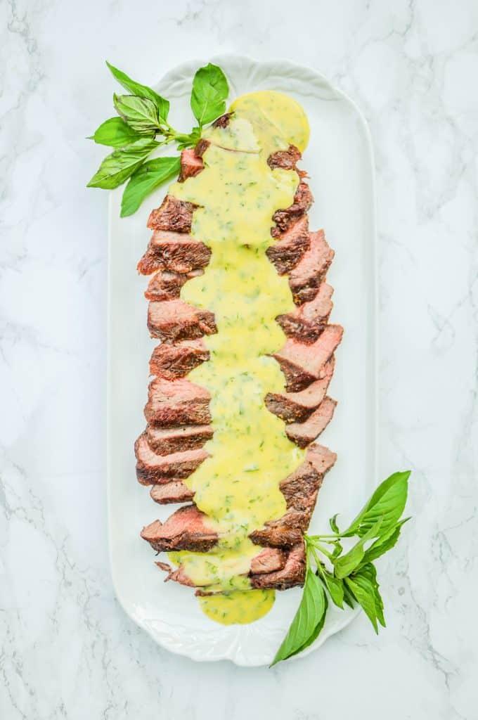 flat iron steak with aioli