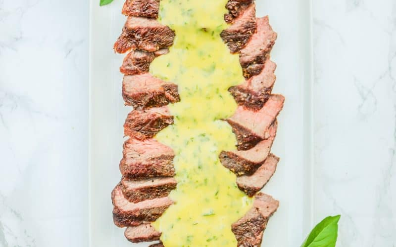 flat iron steak with aioli