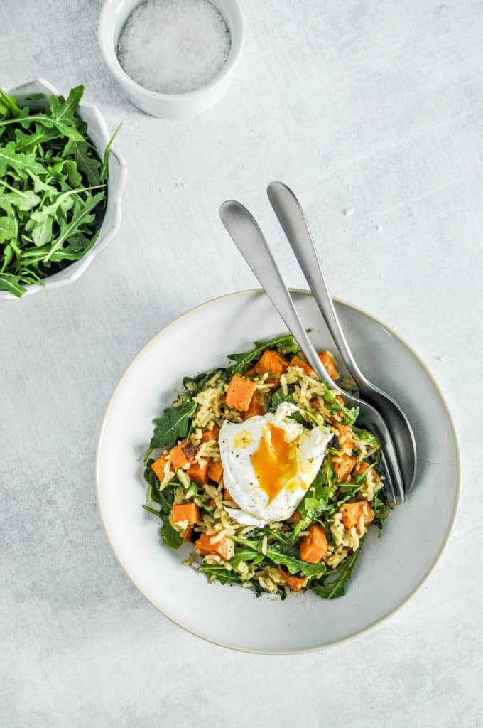 green curry sweet potato bowl