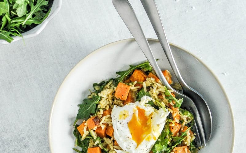 green curry sweet potato bowl