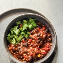stovetop black bean chili recipe