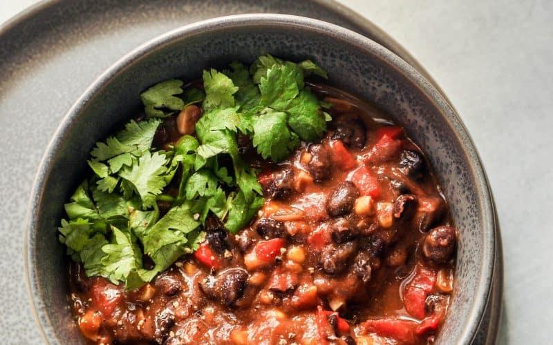 stovetop black bean chili recipe