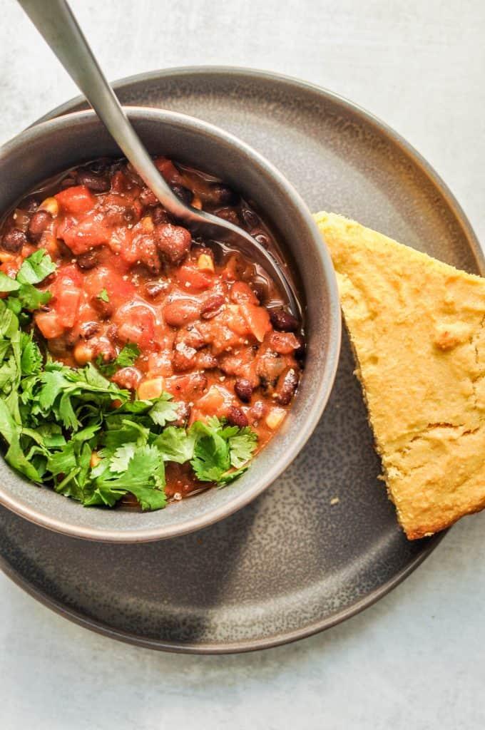stovetop black bean chili