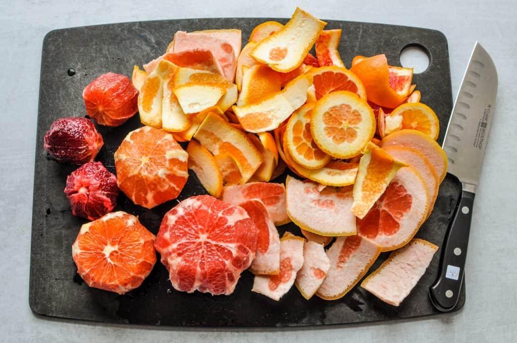 grapefruit, cara cara oranges, blood orange