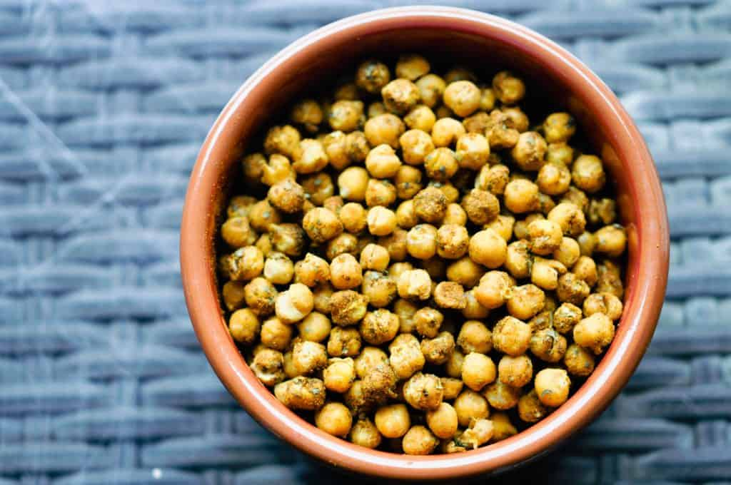 spiced chickpeas in a bowl