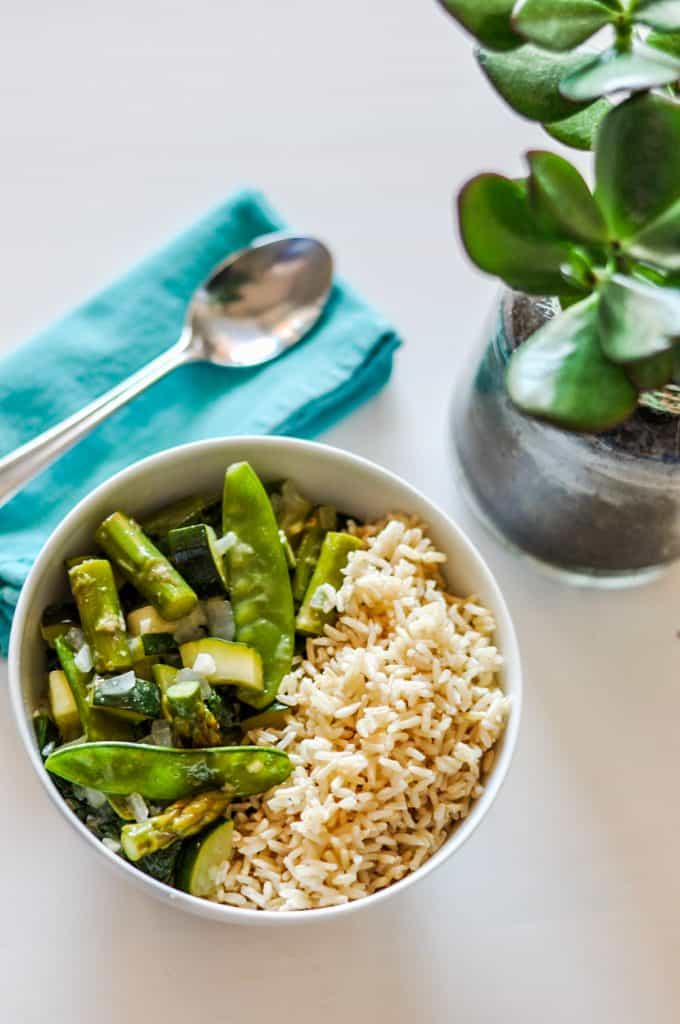 thai green curry with veggies