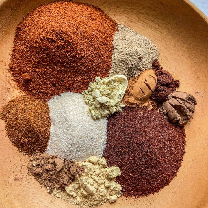 plate with a blend of spices