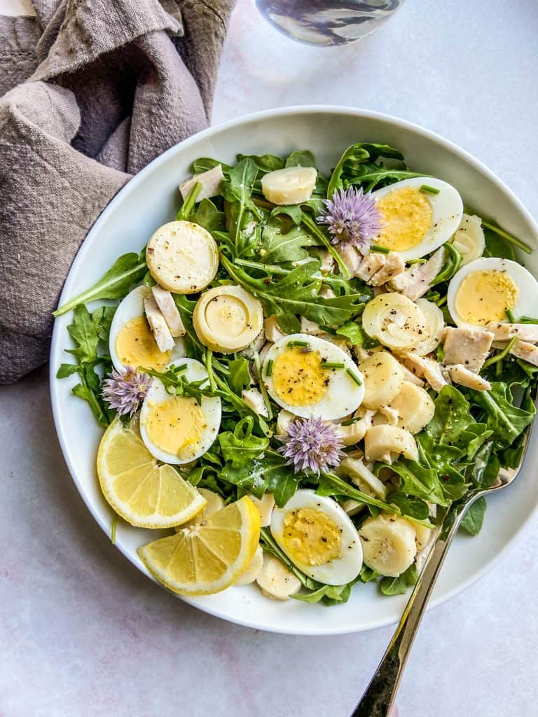 heart of palm salad recipe in a bowl