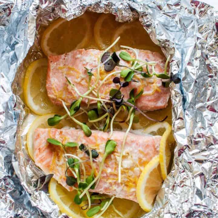 Baked Salmon with Lemon