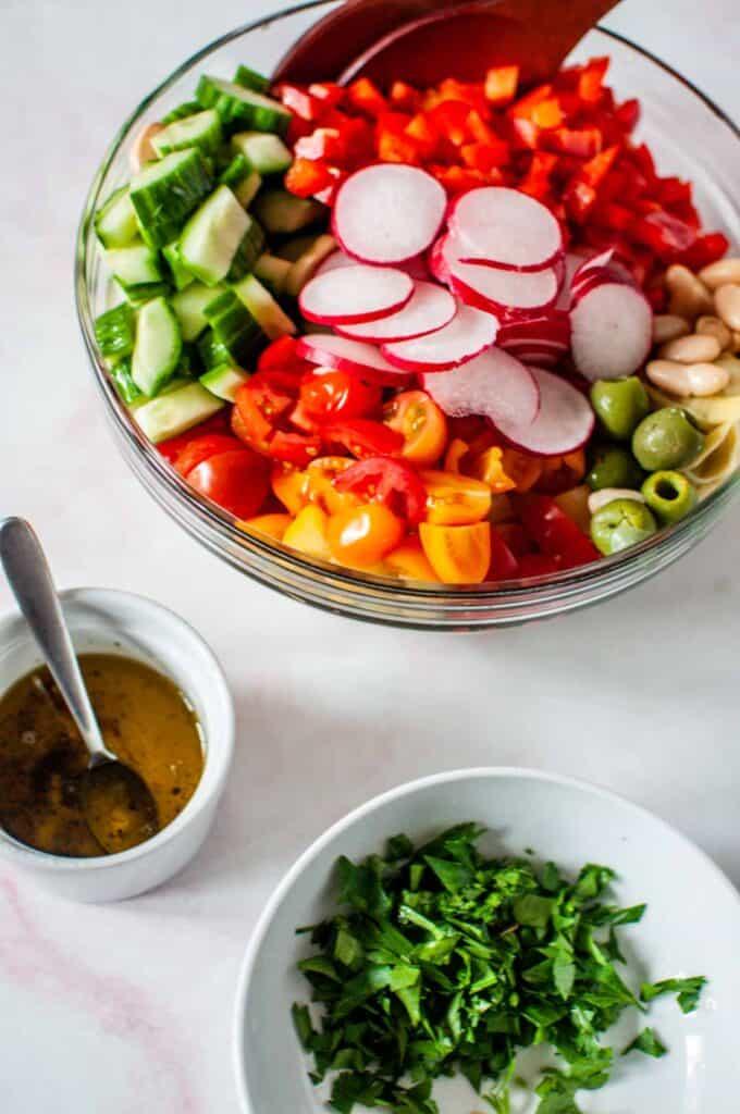 white bean salad ingredients