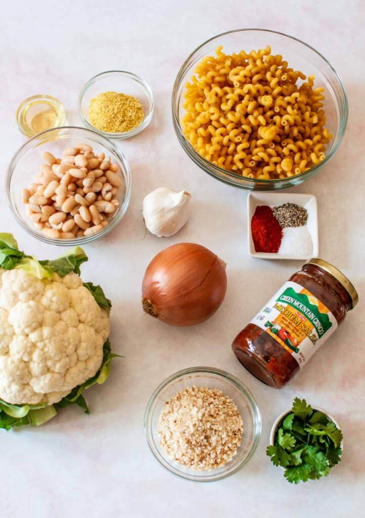 ingredients for vegan mac and cheese