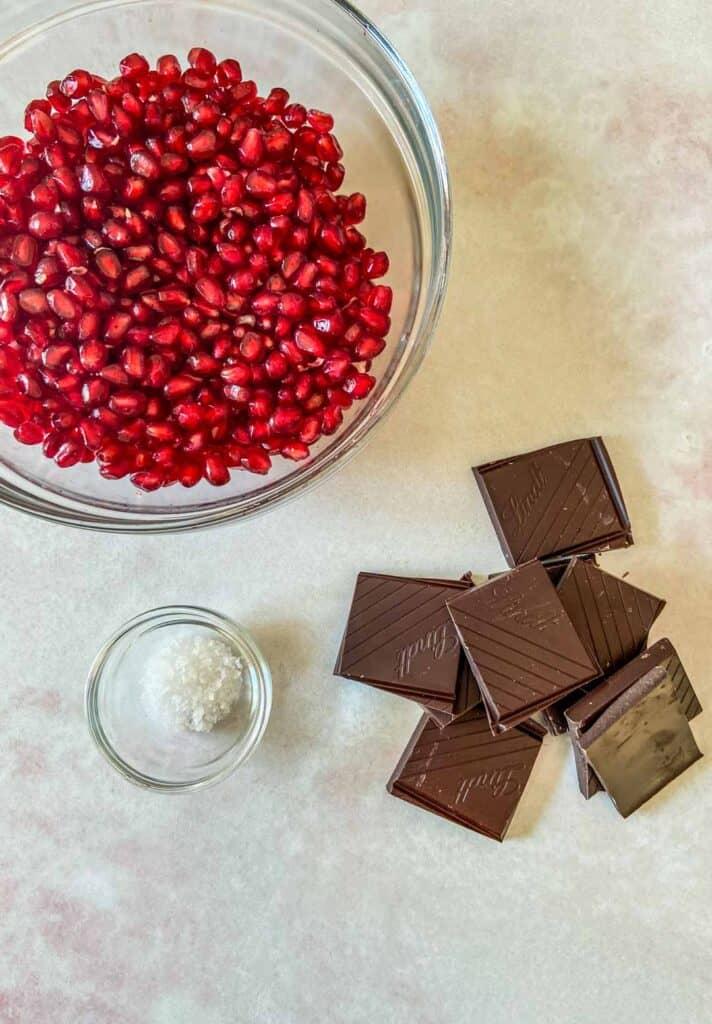 pomegranate dark chocolate bites ingredients