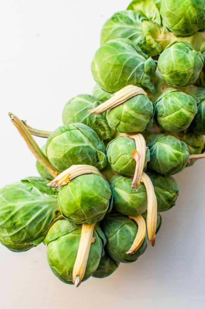 brussels sprouts on a vine