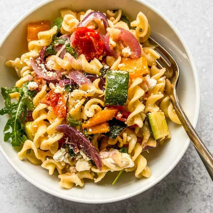 veggie pasta in a bowl