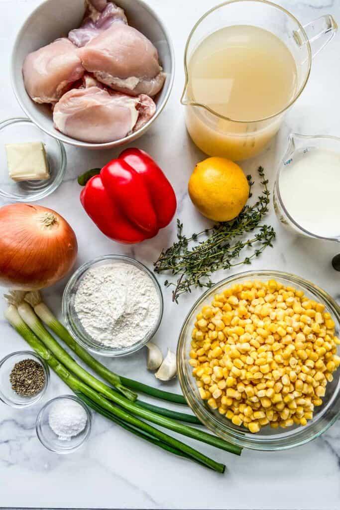 chicken corn chowder ingredients