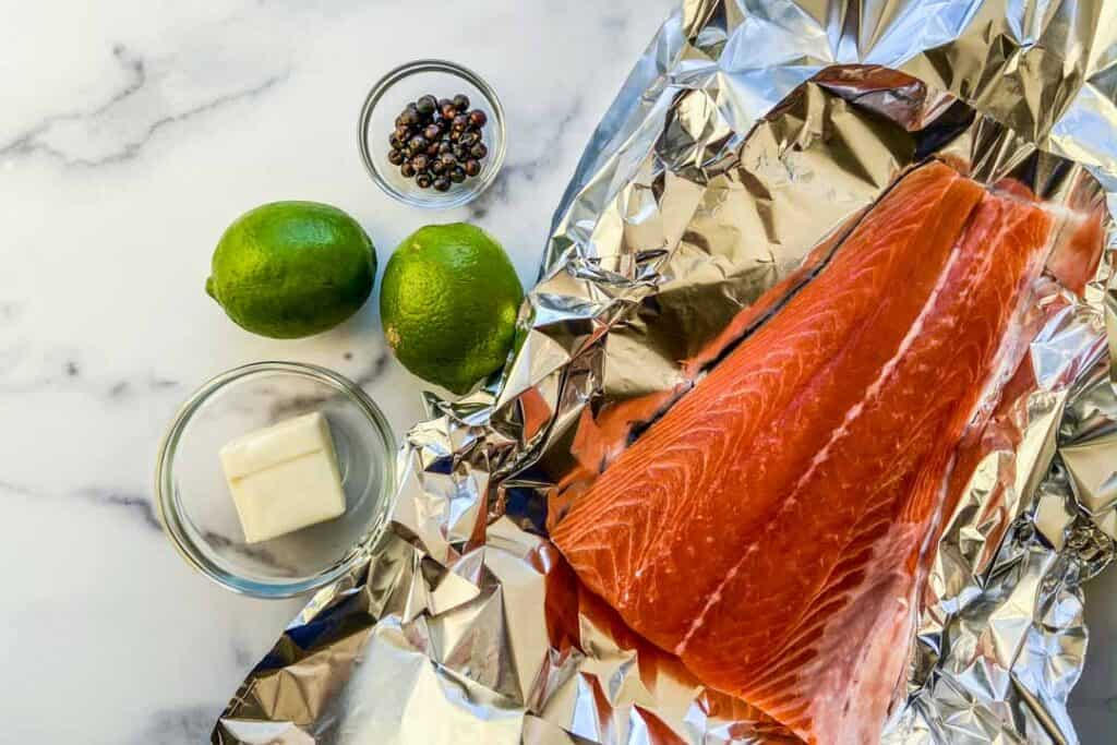 juniper berries salmon ingredients
