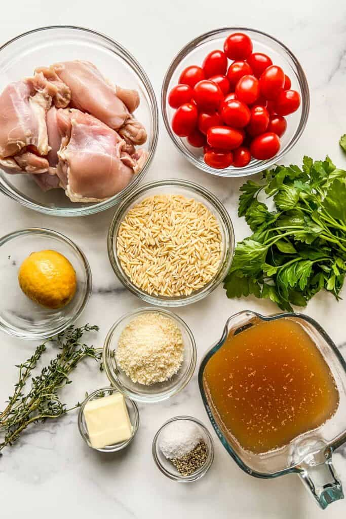 lemon chicken with orzo ingredients