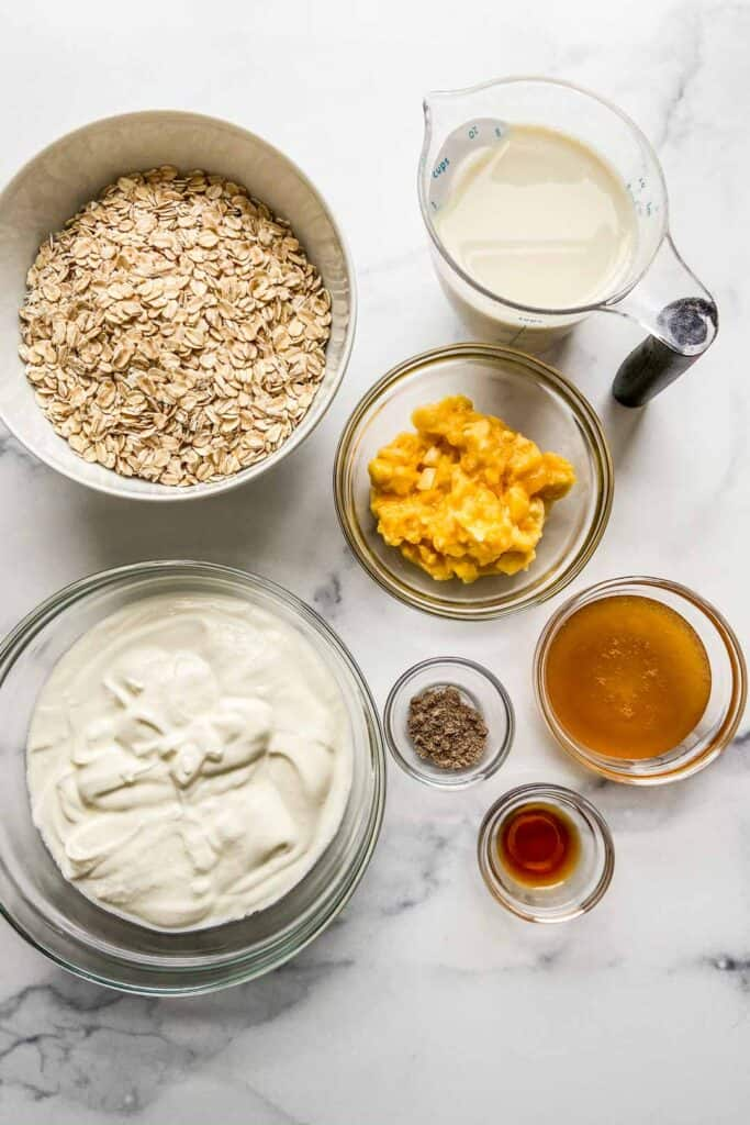overnight oat ingredients
